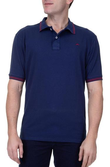 Camisa Polo Colombo Masculina Upper Com Detalhe Azul Marinho