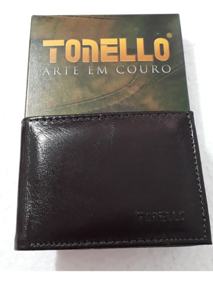 Carteira Compacta Masculina De Couro- Tonello - Linda!