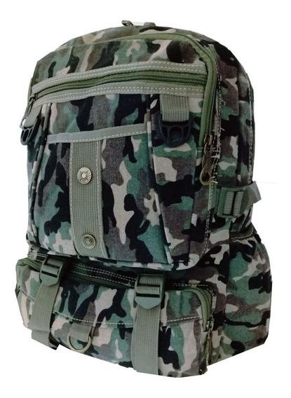 Mochila Lona Camuflada Militar Escolar Masculino Promoção
