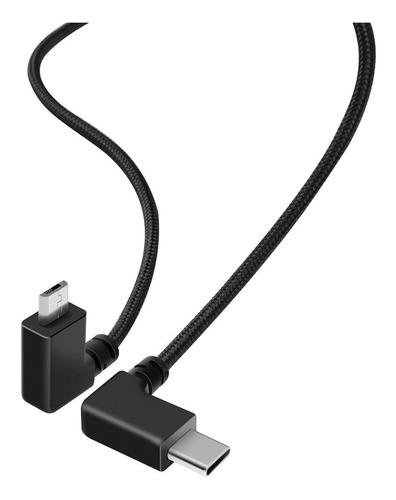 Imagen 1 de 5 de Tipo C (usb-c) A Micro Usb Sync Otg Cable Adaptador Para Ins