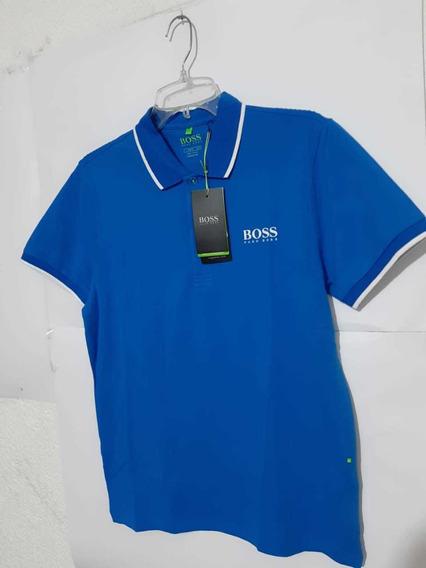 Playera Polo Hugo Boss Color Azul Turqueza