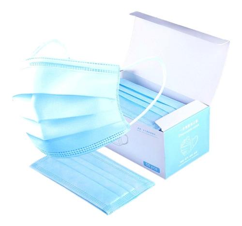 Tapaboca Con Elástico Celeste O Blanco ¡ Caja X 50 Unidades!