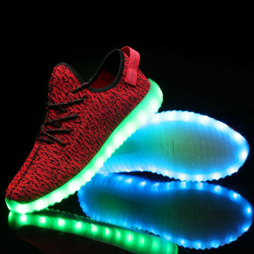 Zapatos Tenis Hombre Led Luces Luminosos Sportswear Colores