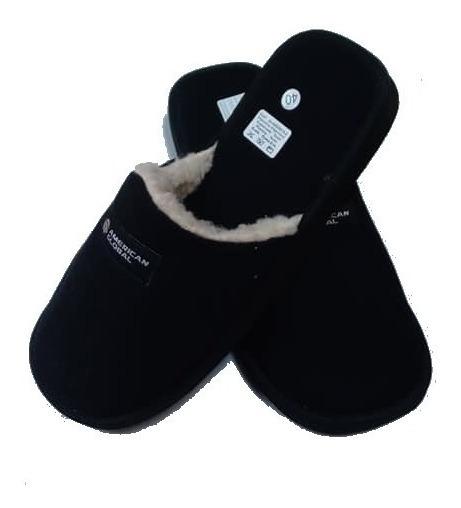 Pantuflas Chinelas Hombre Abrigo Corderito Corderoy Winter