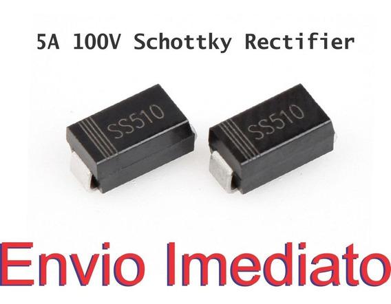 5x Diodo Ss510 Ss510b 510 Smd Arduino - 5 A 100 V