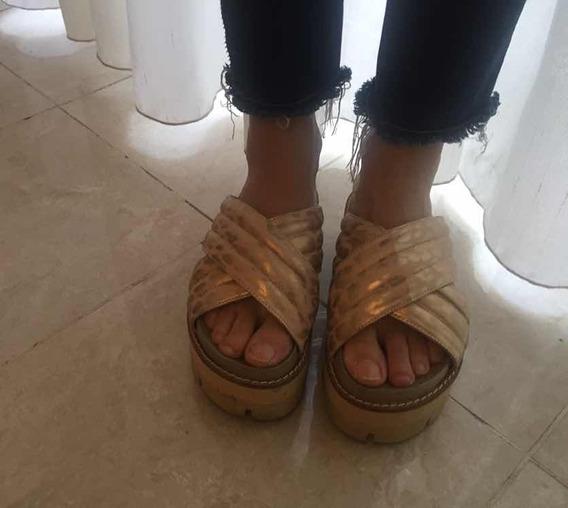 Zapatos Sandalias Con Plataformas Color Nude