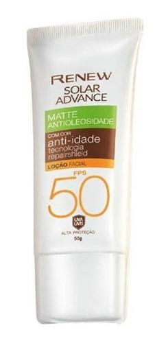 Protetor Solar Renew Matte Cor Média Fps50 50g - Avon