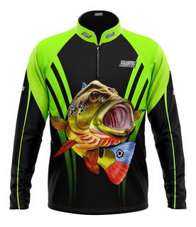 Camiseta De Pesca (f) M/ L Pqs Fishing - Ref 32 -fator Uv50+