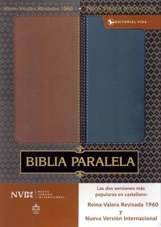 Biblia Paralela Rvr 1960, Nvi Piel Dos Tonos, Mt