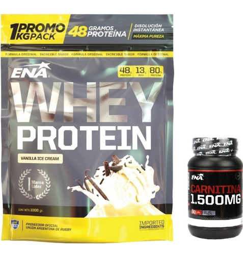 Carnitina 1500 Mg 60 Caps+whey Protein 1kg Excelente Calidad