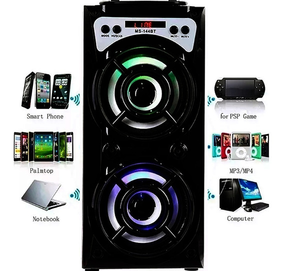 Caixa Som Bluetooth Torre Amplificada Mp3 Fm Usb Sd Pc 500w