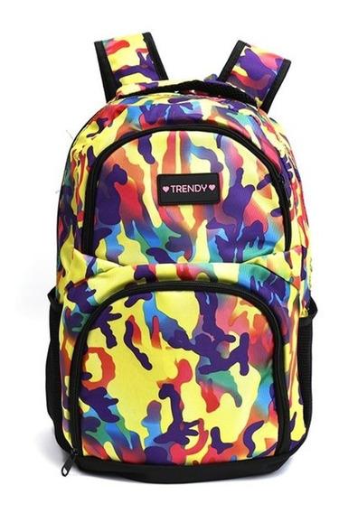 Mochila Urbana Escolar Trendy Camuflada Original 9882
