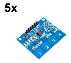 5x Teclado Módulo Sensor Touch Capacitivo 4 Vias Ttp224