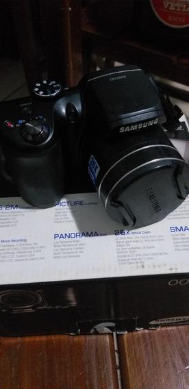 Câmera Samsung Wb100 Preta C/ Lcd 3,0, 16.2mp, Zoom Óptico