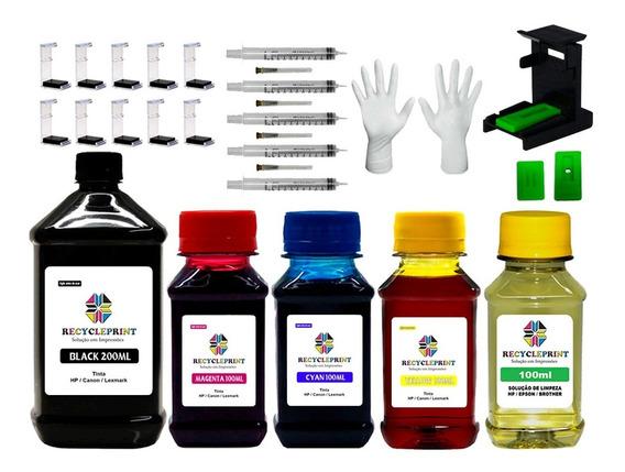 Tinta Recarga Impressoras Hp 664 2676 2136 3636 + Snap Fill