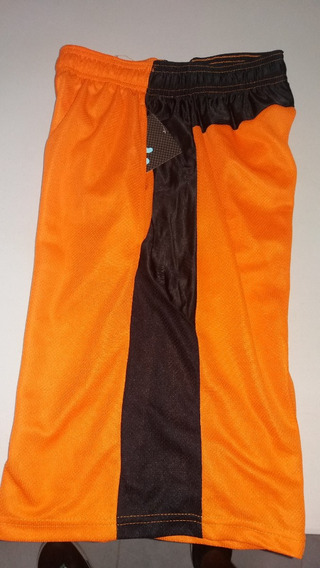 Pantaloneta Basketball 6 Th Man Color Naranja-negro Talla M