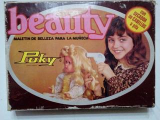 Antiguo Maletin De Belleza Para Muñecas Puky Vintage
