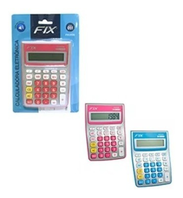 Calculadora Eletrônica 8 Dígitos 15 X 11 Cm Color