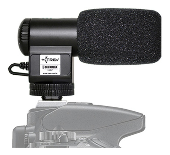 Microfone Direcional Shotgun Compact P/ Canon Eos Rebel T6i