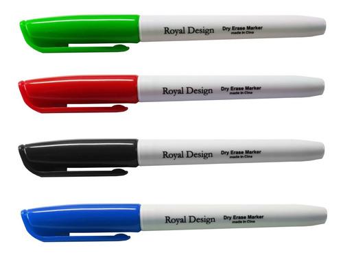 Imagen 1 de 1 de Marcador Para Pizarra Blanca Marcadores Borrables Colores X4