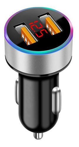Voltimetro Digital Auto Led Color Cargador 2 Puertos  Usb