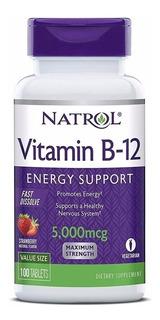 Vitamina B12 5,000mcg 100tbs Natrol Sublingual Original Usa