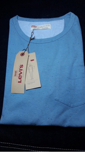 Remera Light Blue Crew Levis