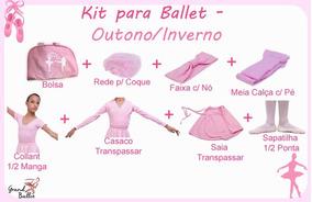 Kit Roupa Uniforme Ballet - Out/inv - 8 Peças