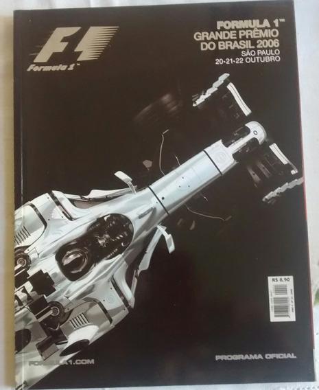 Revista Fórmula 1 N 22 Programa Oficial Gp Do Brasil 2006