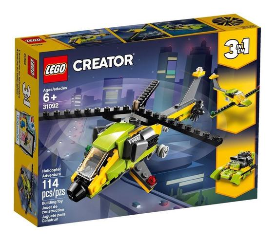 Lego Creator - 3 Em 1 - Helicópteros De Aventura - 31092