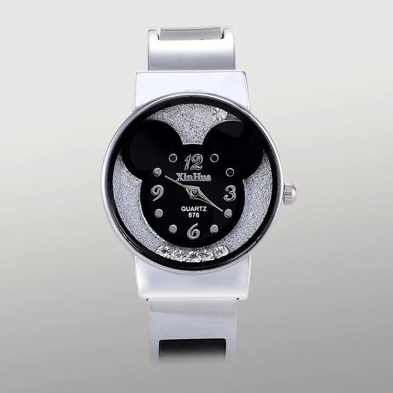 Promoção Relógios Femino Mickey Com Strass Que Se Movimentam