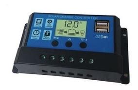 Controlador De Painel Solar Energia Elétrica 30a Amperímetro