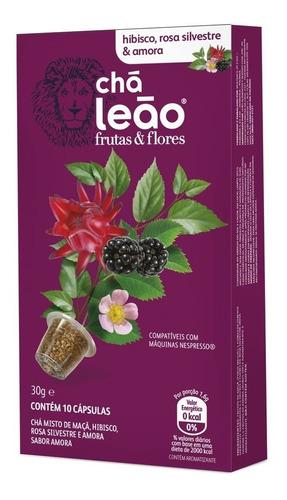 Chá Leão Capsula - Hibisco, Amora E Rosa Silvestre 10 Unid.