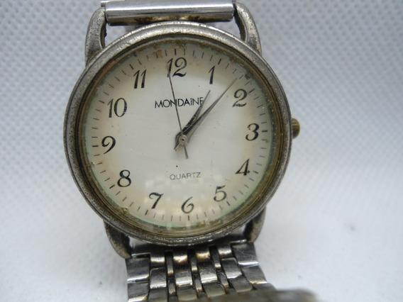 Relógio Mondaine Funcionando, Muito Bem Usado E Estar Bem Descastado