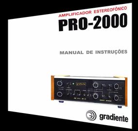 Manual Do Amplificador Gradiente Pro-2000 (cópia Colorida)