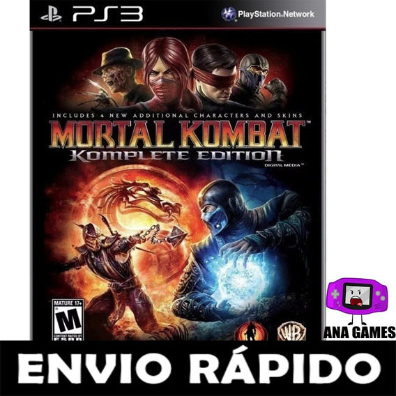 Mortal Kombat Komplete Edition - Mk9- Ps3 - Jogo Digital