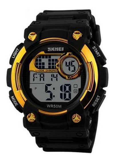 Relógio Masculino Skmei Digital 1054 - Preto/dourado