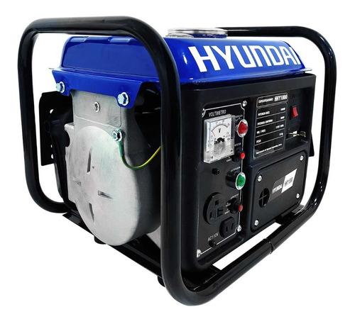 Imagen 1 de 5 de Generador Portátil A Gasolina Hyundai Hhy1000 2 Hp 3600 Rpm