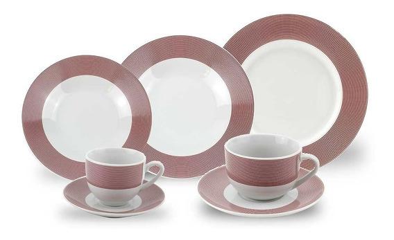 Aparelho De Jantar Porcelana Mod 907 - 42 Peças Class Home