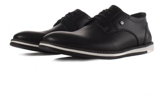 Zapato De Piel Karosso Kasual 3703 Negro