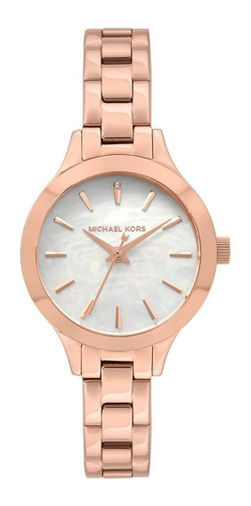 Relógio Michael Kors Feminino Slim Runway Rosé