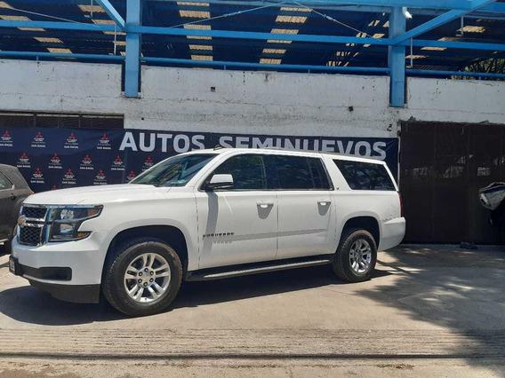 Chevrolet Suburban Lt Piel Banca 2017