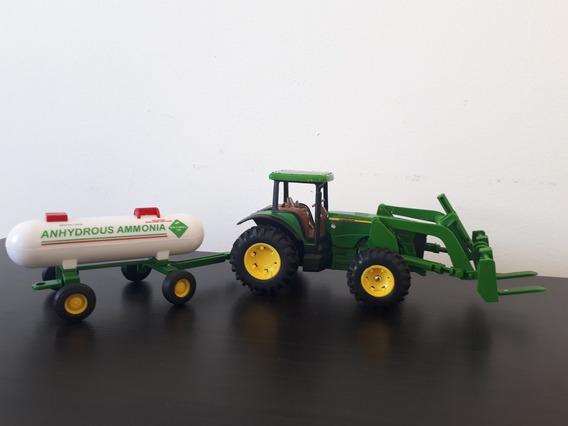 Miniatura Trator Agrícola John Deere 8530 + Carreta Tanque