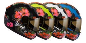 Capacete Moto Feminino Peels Spike Tropical Flores