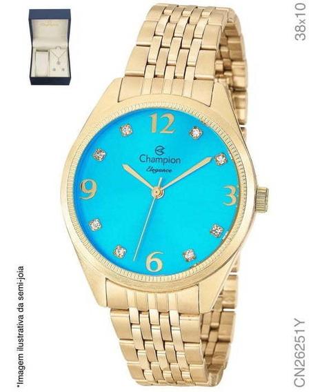 Relógio + Colar E Brinco Cn26251y