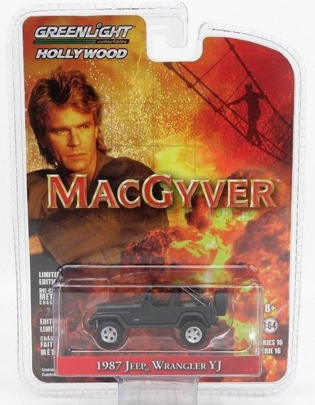 1987 Jeep Wrangler Yj Macgyver Auto Coleccionable 1:64