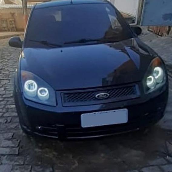 Angel Eyes Ford Fiesta Kit Com 4 Ilumina De Dia Diurno Drl