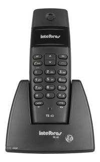 Telefone Sem Fio Digital Ts 40 Intelbras Preto