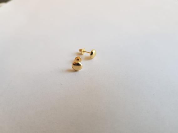 Brinco Lentilha 5mm Ouro 18k