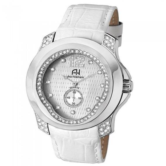 Relógio Feminino Ana Hickmann 100% Original Ah28286q Branco